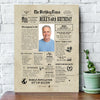 Personalized Happy 60th birthday gift ideas newspaper canvas gift for grandma grandpa