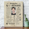 Personalized Happy 50th Birthday gift ideas newspaper back in 1970 Canvas For Mom for dad