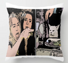 Woman Yelling at Cat meme Throw Pillow, Grumpy Cat meme, Friend pillow case gift, ugly Christmas pillow case gifts