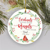 Cardinals appear When Angel Near - Personalized Ornament