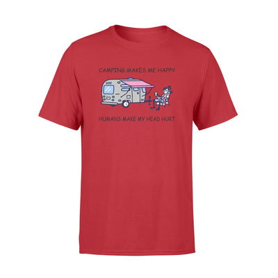 Camping make me happy tshirt - gifts for camping lovers