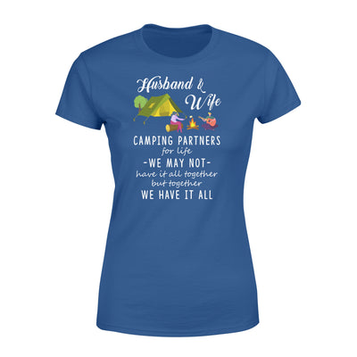 Husband and wife camping partners T-shirt - Gifts for wife