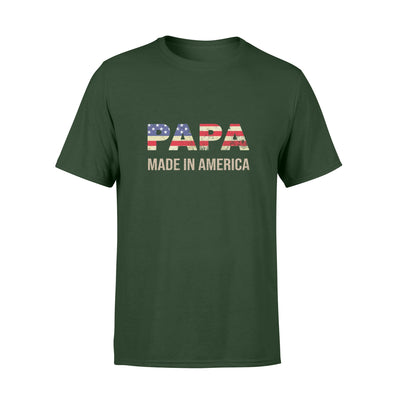 Papa Made In America Tshirt - Gift For Dad