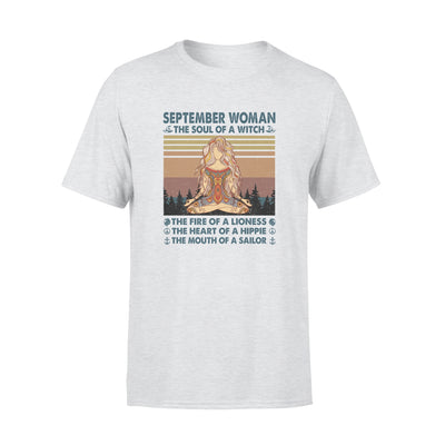 The Soul of a witch hippie September woman yoga shirt Gsge - Standard T-shirt