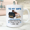 Personalized God Blessed The Broken Road That Led Me Straight To You Mug