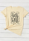 Hello Fall T-Shirt Tee - Apricot