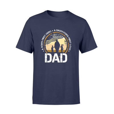 A Son's First Hero Tshirt - Gift For Dad