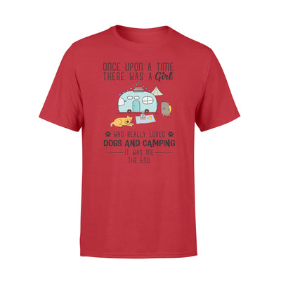 Once upon a time there was a girl tshirt - gifts for camping lovers