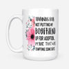 Thank for not putting my boyfriend floral mug - gift for mother of boyfriend
