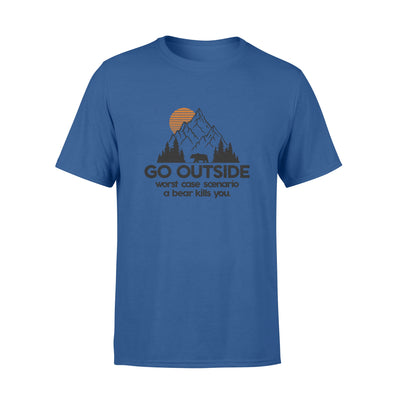 GO OUTSIDE T SHIRT - GIFT FOR CAMPING LOVERS