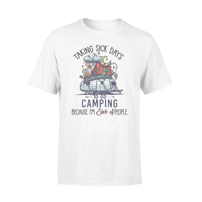 Taking sick days to go camping tshirt - gifts for camping lovers