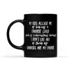 My kids accuse me of having a favorite child mug- Gift for grandparents Black Mug