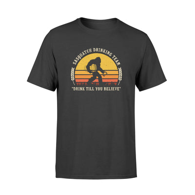 Sasquatch drinking team tshirt - gifts for camping lovers