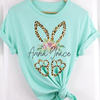 G2 Personalized leopard bunny ears baby name easter shirt GST
