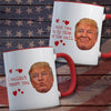 Gifts for her for him - I want you on my side of the wall Trump funny couple coffee mug - GST