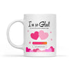 Personalized I'm So Glad You And Me Both Swiped Right Mug