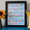 Vista Stars Autism teacher classroom school rules poster GST