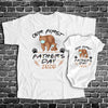 Personalized Daddy And Me Our First Fathers Day Brown Bear Shirts - Dad And Baby Shirts