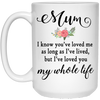 Mum I Know You've Loved Me As Long As I've Lived Mug
