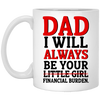 G1-I'm Always Be Your Financial Burden Mug Gift For Dad, Mug For Dad, Christmas Gift Ideas For Stepdad, Funny Presents For Dad