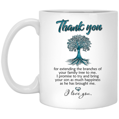 Thank you for extending the branches of your family tree mug (2)