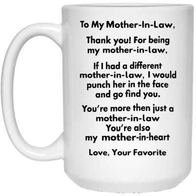 Thank you for being my mother-in-law mug