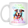 Crazy wine mug - gifts for dog lovers
