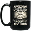I asked ood for strength and courage mug - gifts for dad