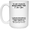 To my fiancee never forget that i love you mug - gift for couple