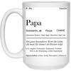 Papa - Alternative Namen - Vater Paps Dad Vati Mug   - Gift For Dad