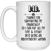 Financial Independence Mug - Gifts For Dad
