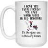 Couple gifts - I love you even though you fart unicorn coffee mug - GST