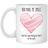 You make me smile mug - gift for couple
