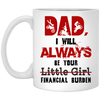 Biker - Motorcycle lover gift Mug for dad i will always be your little girl financial burden gift for dad