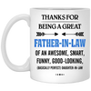 Thanks For Being A Great Father-in-law Mug - Gift For Father-in-law