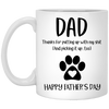 Dad Thank For Putting Up With My Sh*T Mug - Gift For Dad