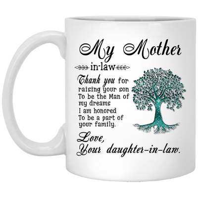 Thank you for raising your son to be the man of my dreams mug