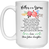 Mother of the groom today is a special day mug
