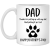 Dad Thanks For Not Putting Up With My Sh*T Mug  - Gift For Dad