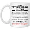 To My Father In Law Thank You For Leading By Example And Raising The Man Of My Dreams Mug - Gifts For Dad