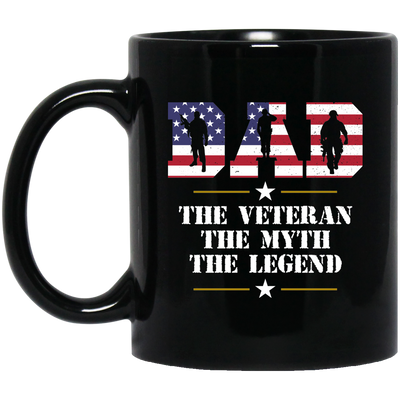 Dad The Veteran The Myth The Legend Mug - Gift For Dad