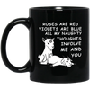 Rosed are red violets are blue mug - gifts for couple