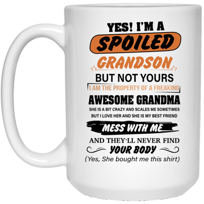spoiled grandson  Mug - gifts for grandma