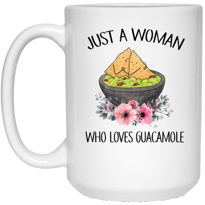 Just a woman who loves guacamole mug - gifts for couple