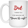 Dad Thank You For Walking Me Down The Aisle Mug - Gift For Dad
