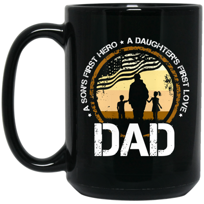 Dad A Son's First Hero Mug - Gift For Dad