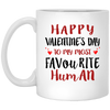 Couple gifts - Happy valentine to my most favorite human funny mug - GST