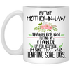 Thanks for not putting my fiance up for adoption mug