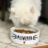 Personalized Cat Name Pet Bowl