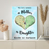 Personalized No Distance Daughter Canvas